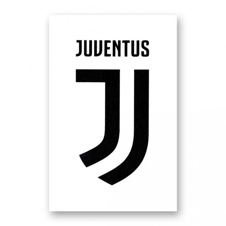 juventus sticker bianco logo juventus official online store. Black Bedroom Furniture Sets. Home Design Ideas