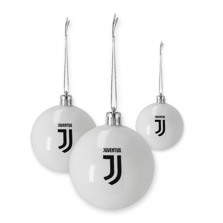 Immagini Natalizie Juve.Juventus Set 8 Palline Natalizie
