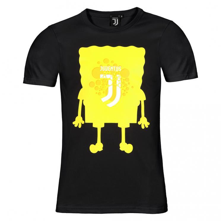Juventus Online T Nera Store Spongebob Official Shirt Uomo JKuTFc31l5