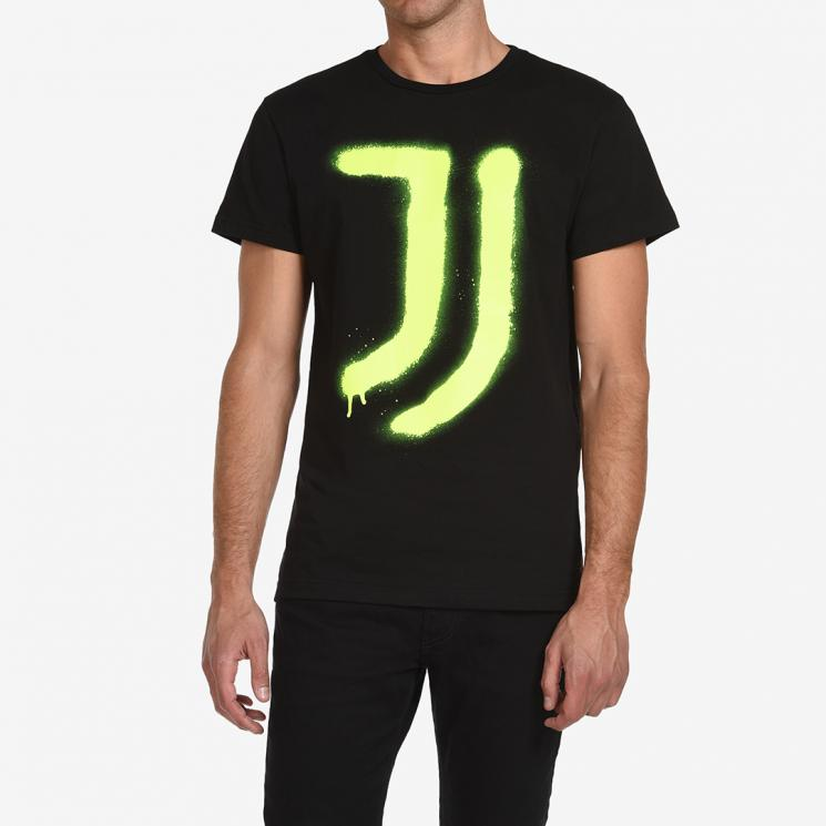 Juvents T Shirt Spray Yellow Juventus Official Online Store