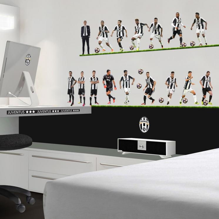 juventus adesivo murale grande 16 giocatori - juventus official